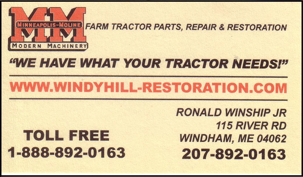 Maine Antique Power Association » Business Card Ads