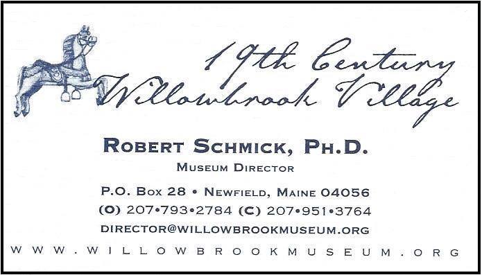 Robert Schmick, 19th Century Willowbrook Village